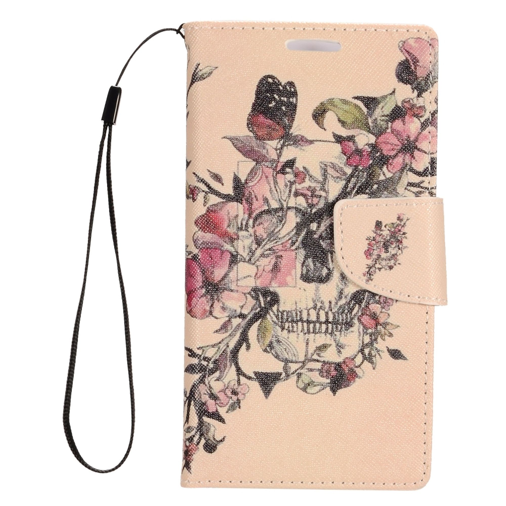 Alcatel Dawn Phone Case by Insten Blossom Flowers Stand Folio Flip Leather [Card Holder Slot] Wallet Flap Pouch Case Cover for Alcatel Dawn/Ideal/Streak