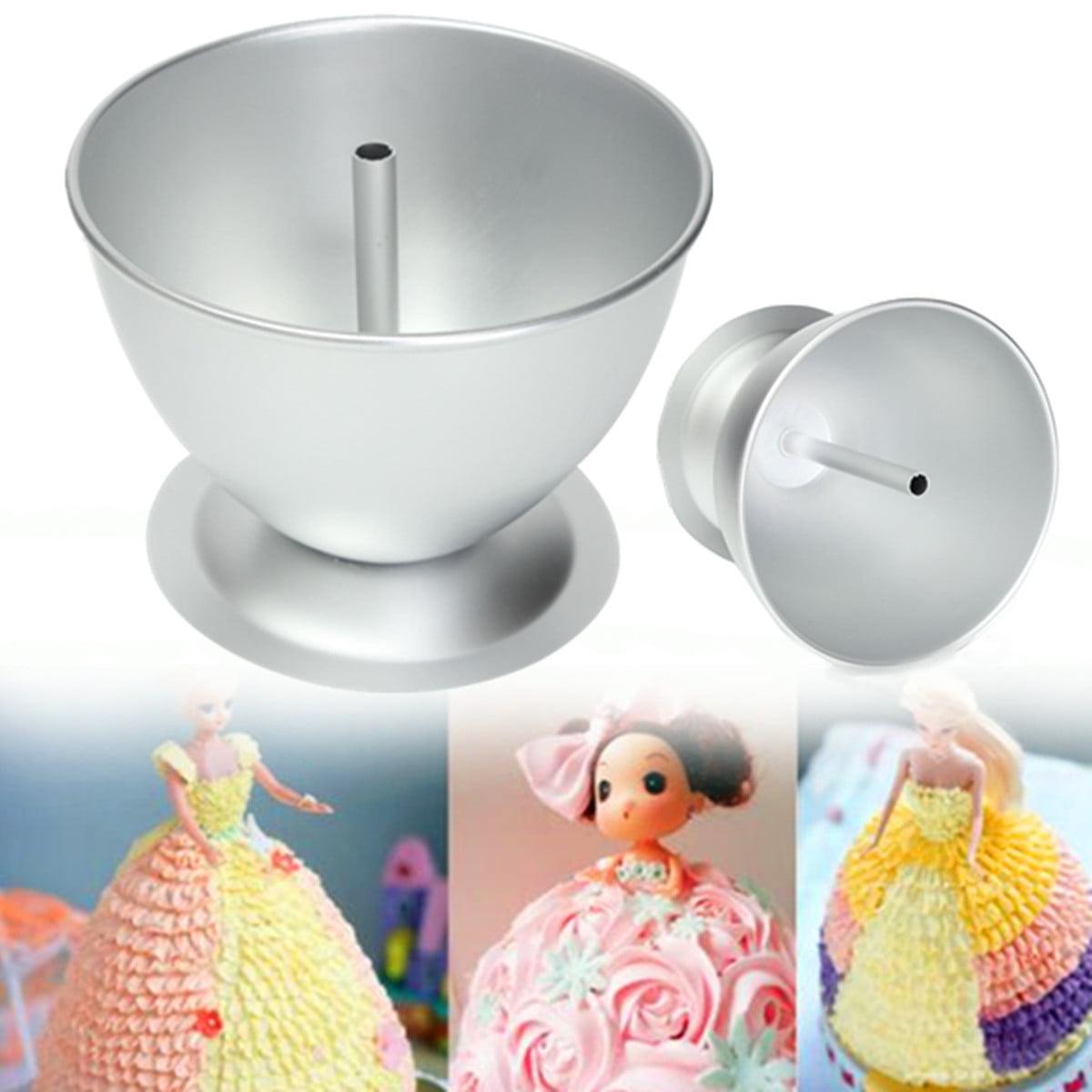 3D Princess Dress Doll Cake Mould Fondant Baking Pan Tin Decorate Making Molds Kitchen Tool by