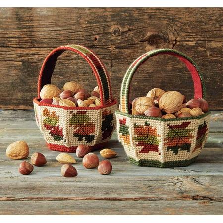 Mary Maxim Autumn Leaves Baskets Plastic Canvas Kit