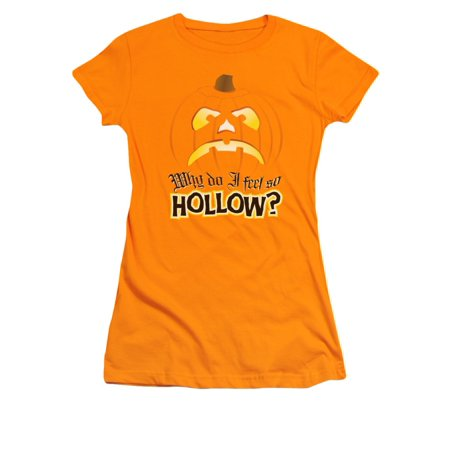Why Do I Feel So Hollow Halloween Juniors Sheer T-Shirt Tee - Halloween Feeling