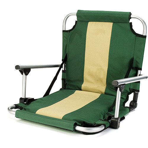 Stansport Folding Stadium Seat with Arms, Green