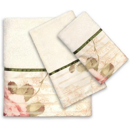 Oklahoma 3 Piece Bath - Popular Bath Madeline Beige Collection 3 Piece Towel Set