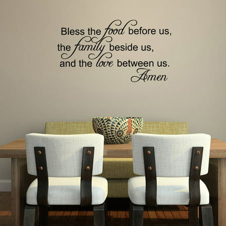 Vinyl Free Decal - Bless The Food Before Us Vinyl Wall Decal Quotes Home Sticker Decor
