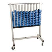TKO Neoprene Dumbbell Pack with Storage Rack