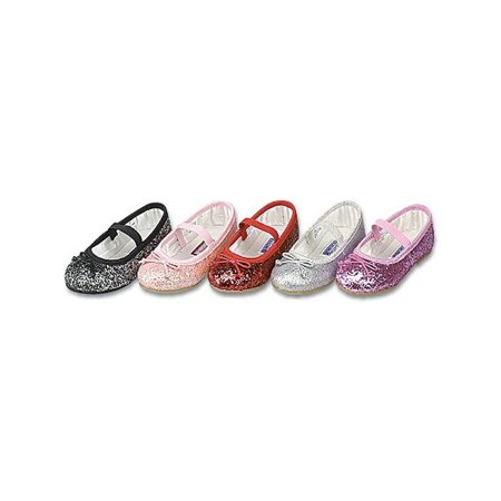 Toddler Little Girls Glitter Slip On Special Occasion Dress Shoes 5-4