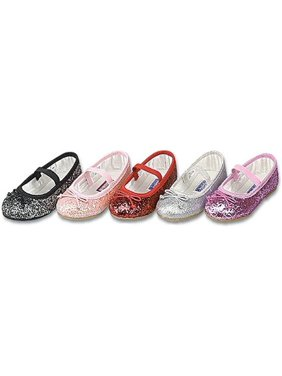 e99edea46eb986 Product Image Toddler Little Girls Glitter Slip On Special Occasion Dress  Shoes 5-4
