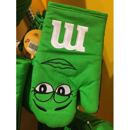 M&M's World Green Character Oven Mitt New with