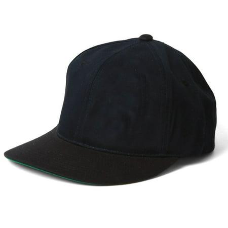 Solid Plain Style Flatbill Snapback Hat Cap ()