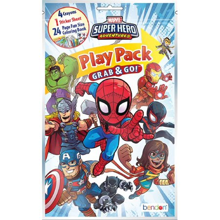 Party Favors - Super Hero Adventures - Grab and Go Play Pack - 1ct - Superhero Party Ideas