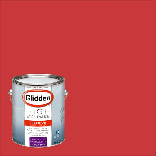 Glidden High Endurance, Interior Paint and Primer, Red Geranium, #19YR 14/629