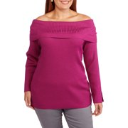 Heart and Women's Plus Off the Shoulder Sweater