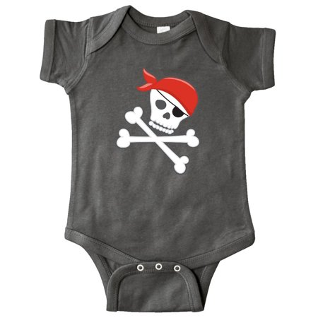 Pirate Funny Infant Bodysuit - Pirate Skull and Crossbones Infant Creeper