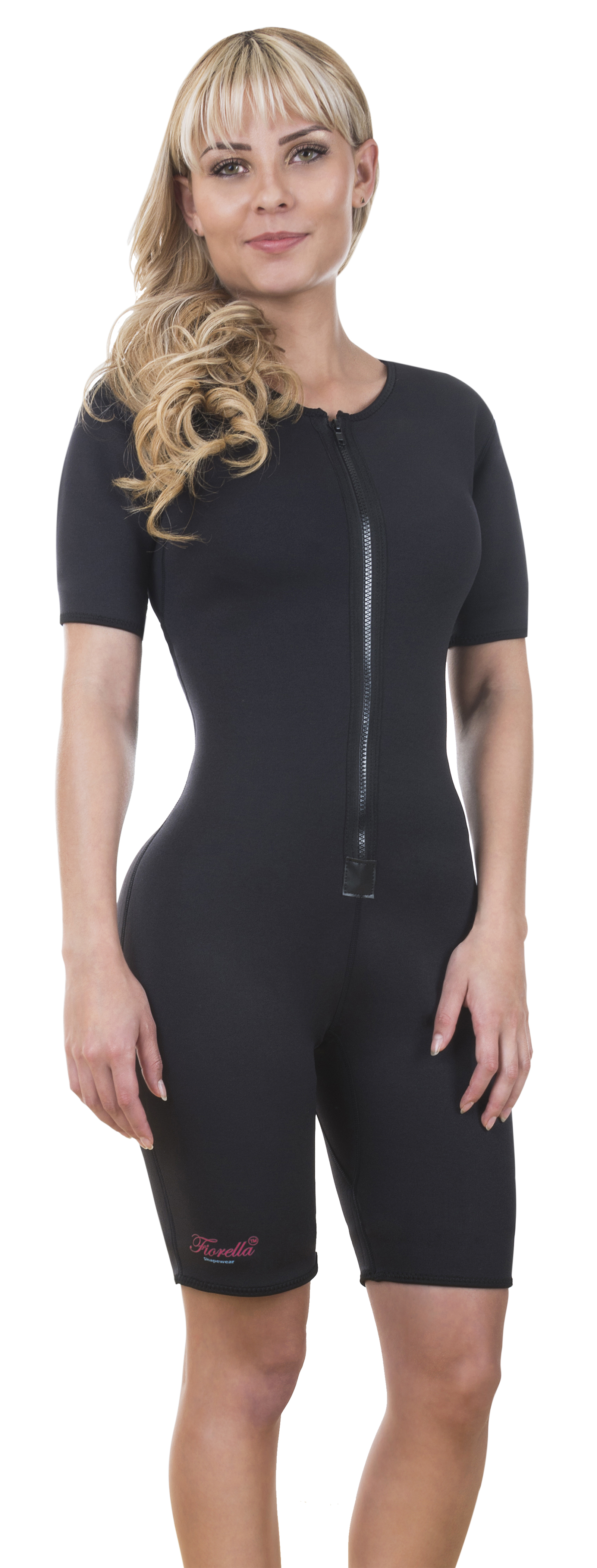 345f649b4a Neo Sweat Slimming Sauna Full Body Suit Sports Neoprene with Sleeves Body  Shaper for Gym Yoga Aerobics Run Workout 305 Small - Walmart.com