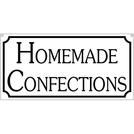 Homemade Confections- 6x12 Aluminum Bakery Food Decor sign](Home Made Halloween Decor)