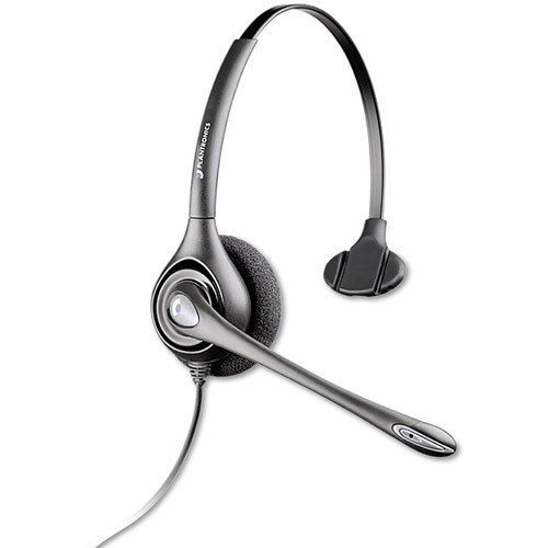 Plantronics Supra Plus Monaural Headset With Noise Canceling Mic