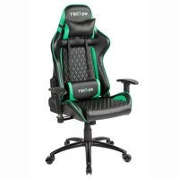 Techni Sport TS-5000 Ergonomic, High Back, Racer Style, Video Gaming Chair. Color Green