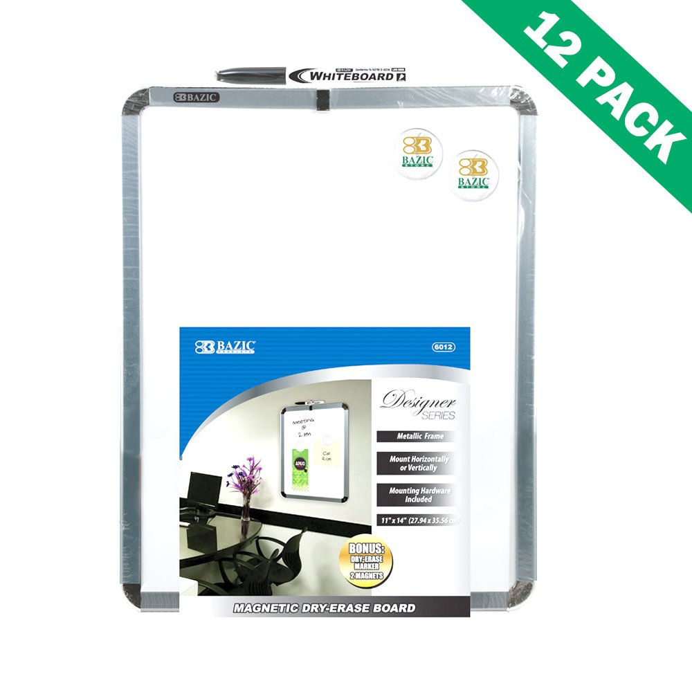Dry-erase Board, Mounted Rectangular Magnetic Small Dry Erase Board Set Of 12