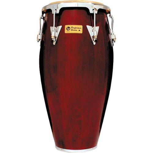 LP Performer Series Conga with Chrome Hardware 11.75 in. Dark Wood