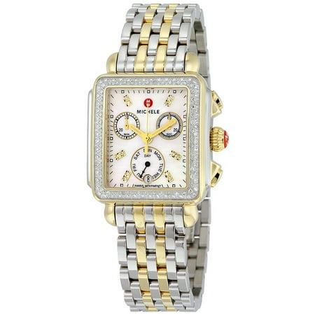Michele Signature Deco Chronograph Diamond Ladies Watch (Band Diamond Chronograph Watch)