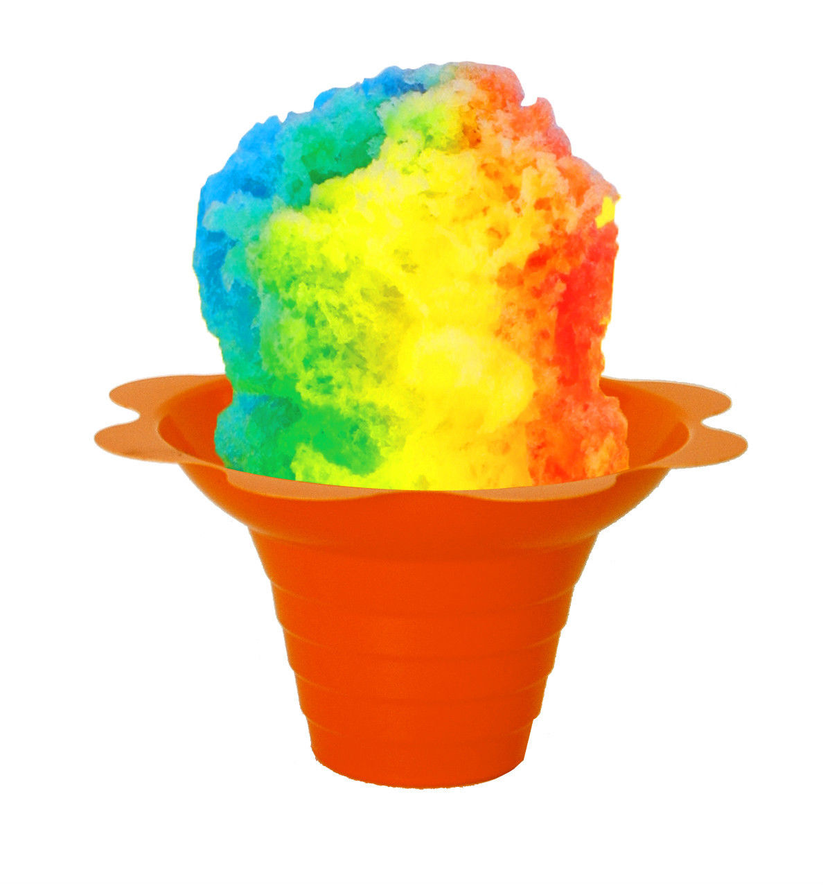 Flower Cups for Serving Shaved Ice or Snow Cones 4 oz, Case of 500