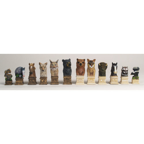 Classic Game Collection Wild Animals of America Chess Set