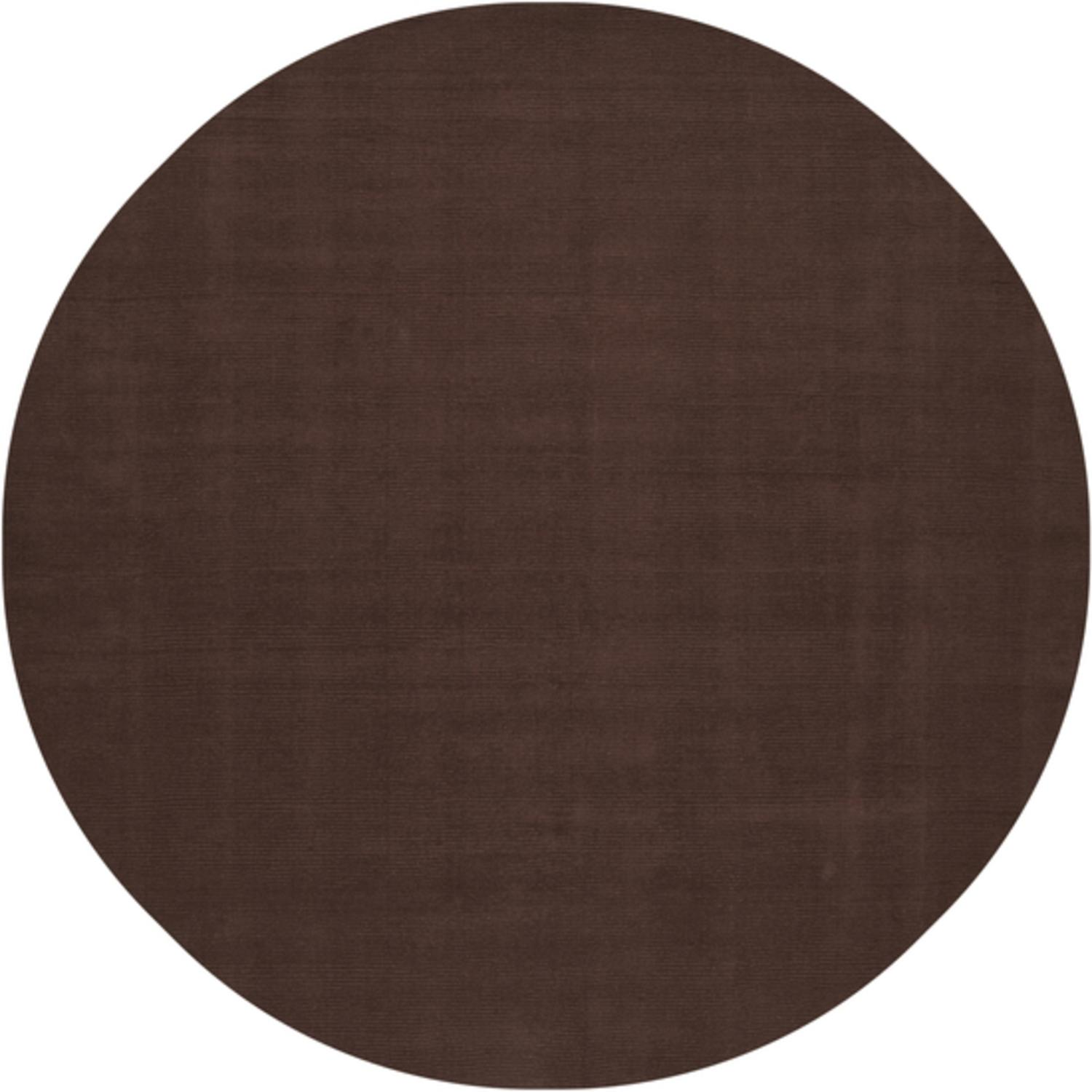 9.75' Rogue Love Chocolate Brown Wool Round Area Throw Rug