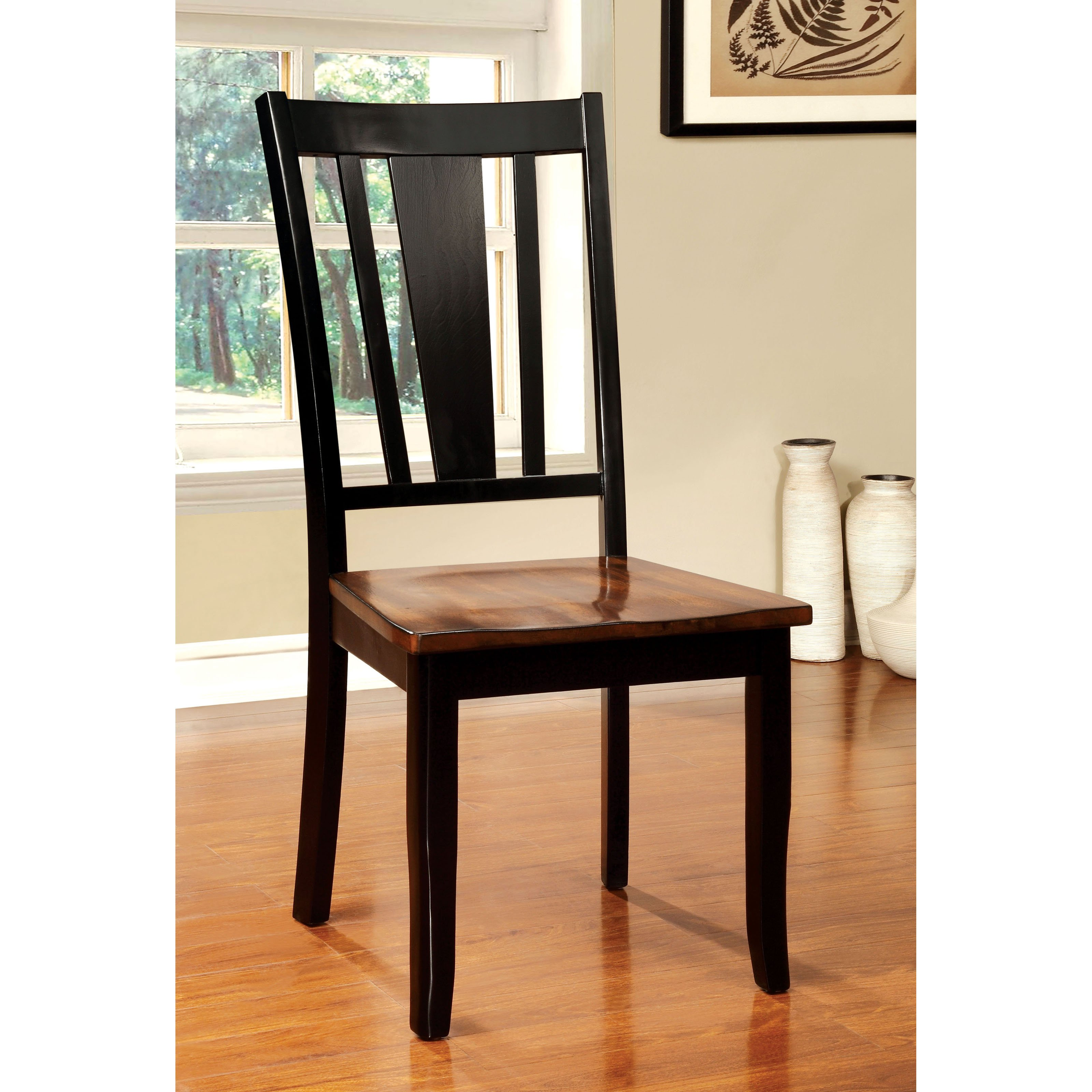 Furniture of America Lohman Dual-Tone Dining Side Chair