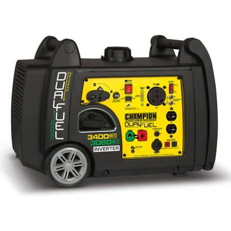 Champion 100263 3400 Watt Dual Fuel RV Ready Portable Inverter Generator with Electric - Guardian Generator