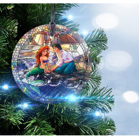 Trend Setters Disney Little Mermaid Glass StarFire Prints Ornament for $<!---->