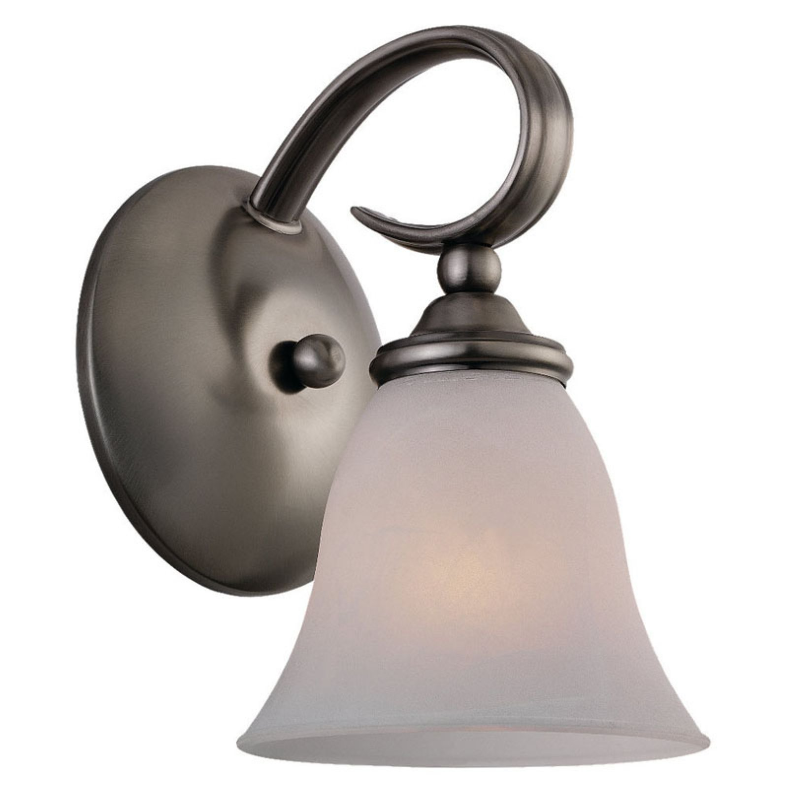 Sea Gull Rialto Bathroom Sconce - 6W in. Antique Brushed Nickel
