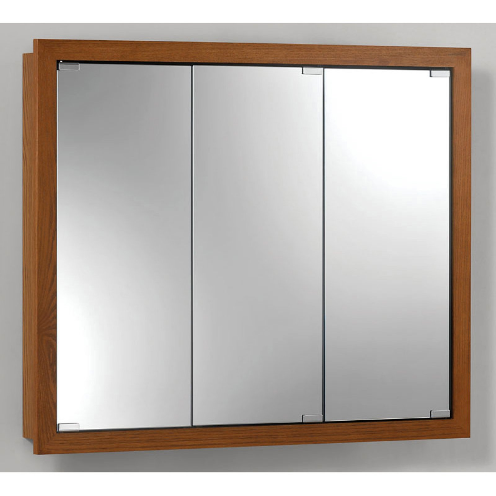 Jensen Medicine Cabinet Granville Tri-View 30W x 26H in. Surface Mount Medicine Cabinet by Lighthouse Distribution Corp