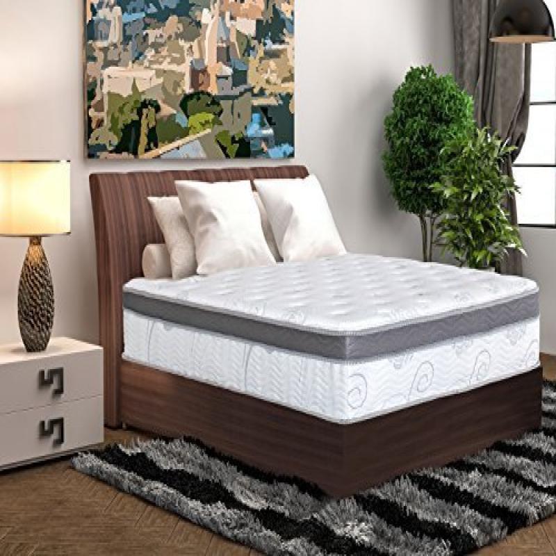 Olee Sleep 13 Inch Box Top Hybrid Gel Infused Memory Foam...