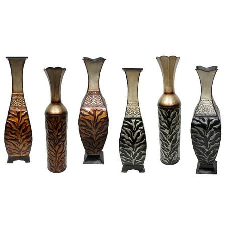 Home Soure Tabletop Animal Print Metal Vase Walmart