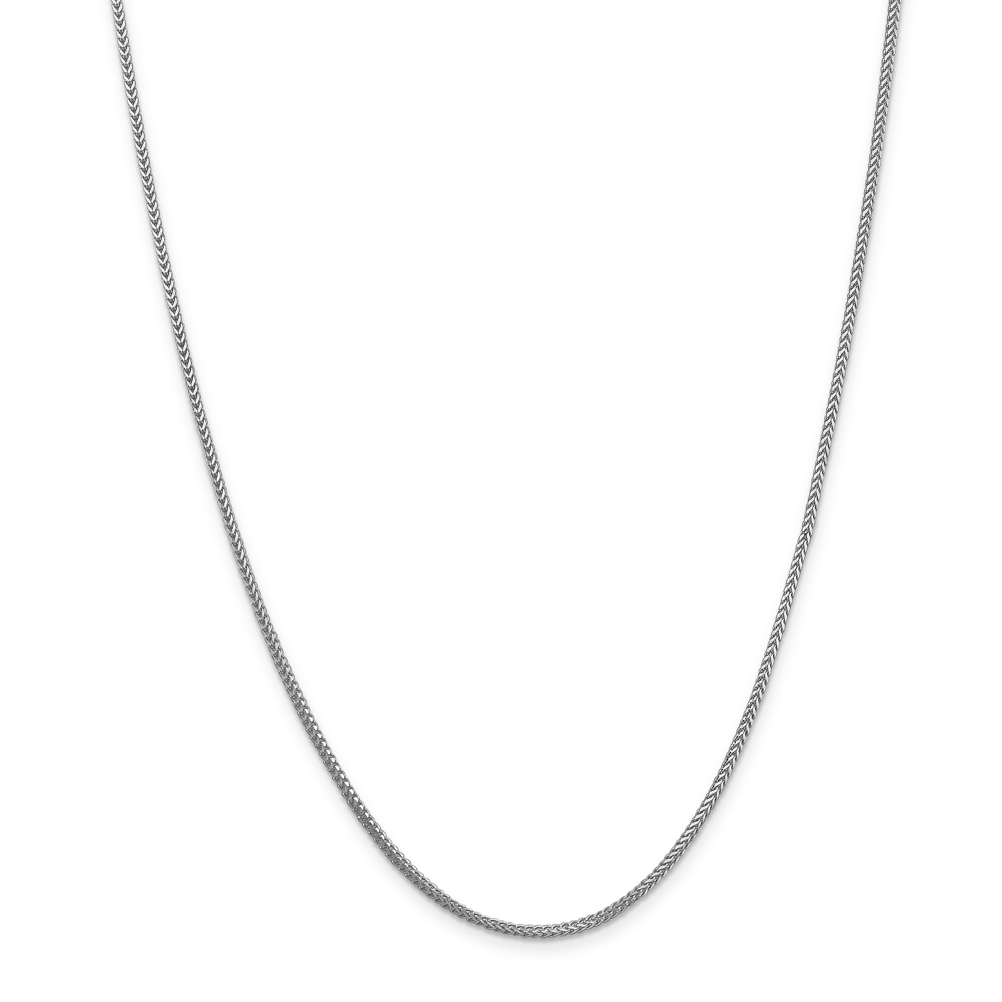 14k White Gold 1.3mm Franco Chain Necklace 20 Inch Pendant Charm Fine Jewelry Gifts For Women For Her - image 5 de 5