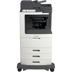 """Lexmark MX810DTE Laser Multifunction Printer - Monochrome - Plain Paper Print - Desktop - Copier/Fax/Printer/Scanner - 55 ppm Mono Print - 1200 x 1200 dpi Print - 55 cpm Mono Copy - 10.2"""" Tou"""