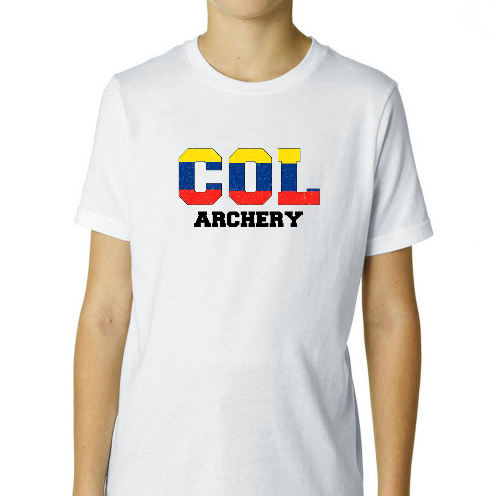 Colombia Archery - Olympic Games - Rio - Flag Boy's Cotton Youth T-Shirt