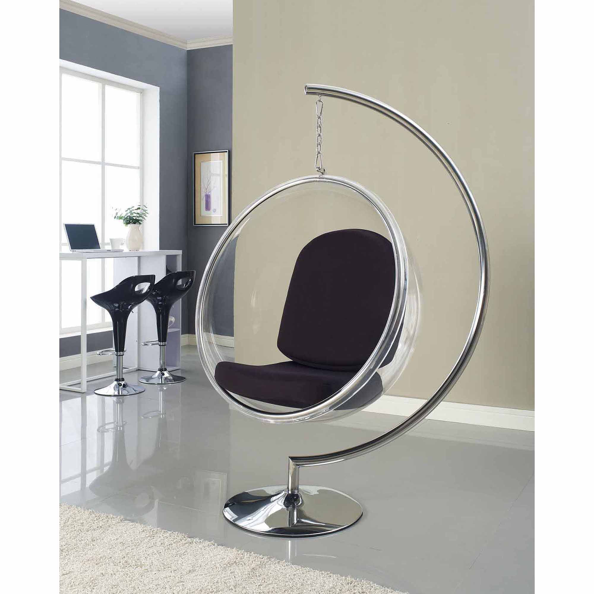 Modway Ring Lounge Acrylic Chair with Steel Rim, Multiple Colors -  Walmart.com