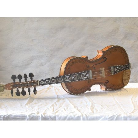 Traditional Hardanger Fiddle with Mother-of-Pearl Inlay, Rosing, Norway Print Wall Art By Russell Young (Fire Mother Of Pearl Inlays)
