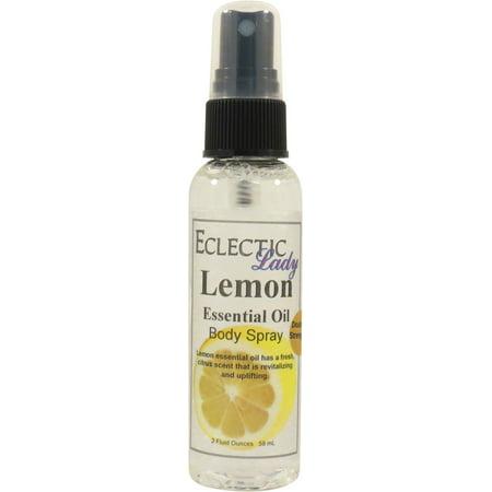 Lemon Essential Oil Body Spray (Double Strength), 2 ounces