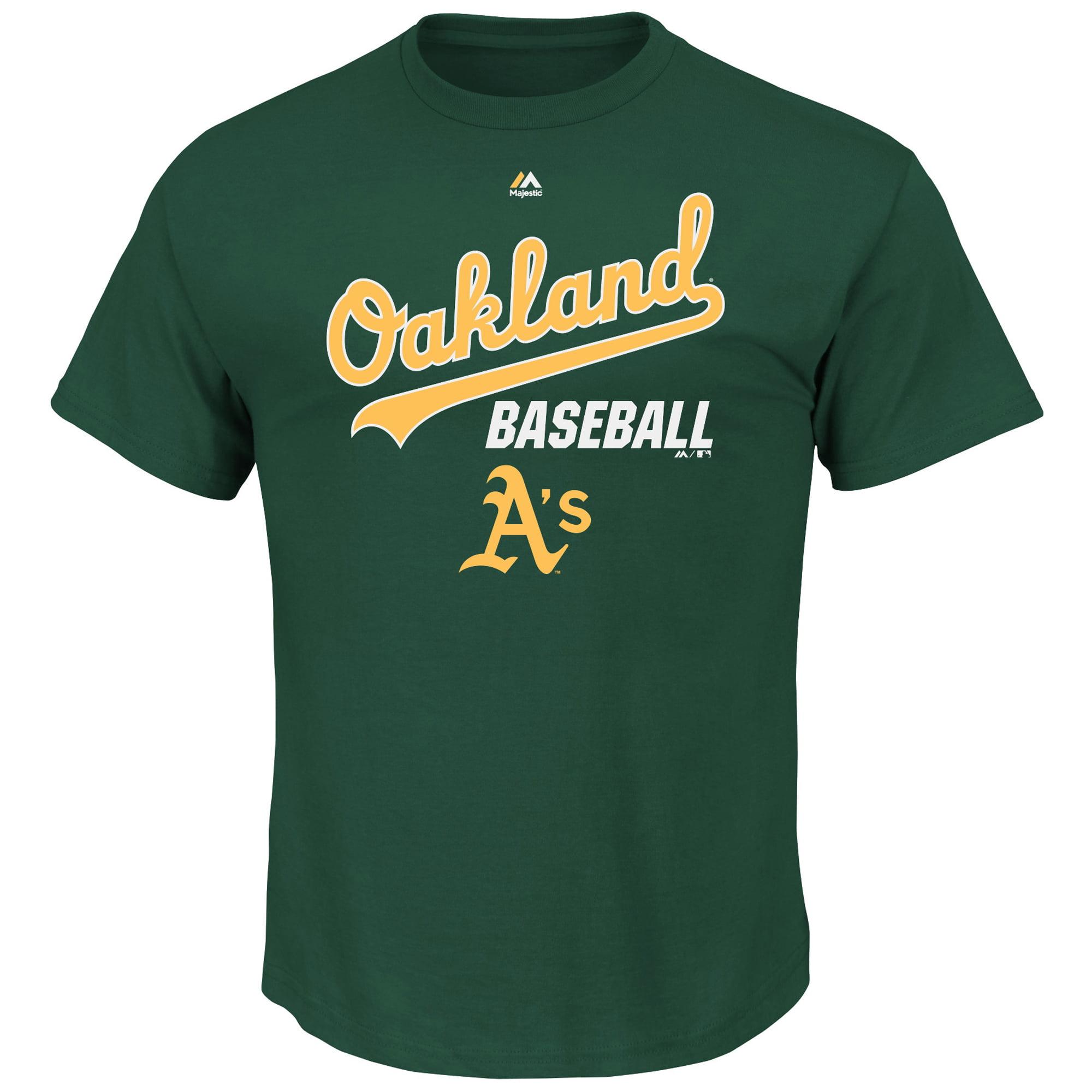 Oakland Athletics Majestic All of Destiny T-Shirt - Green