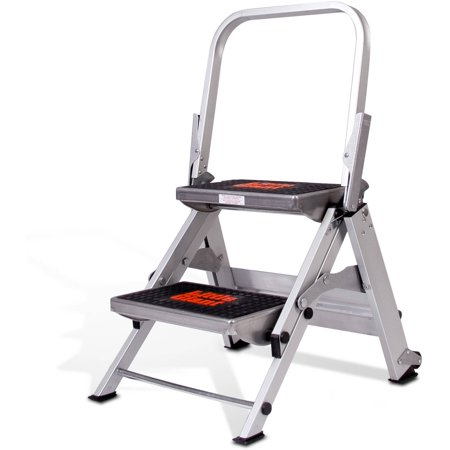 - Little Giant Safety Step, Model 2 step, 300 lbs capacity rated, aluminum stepstool