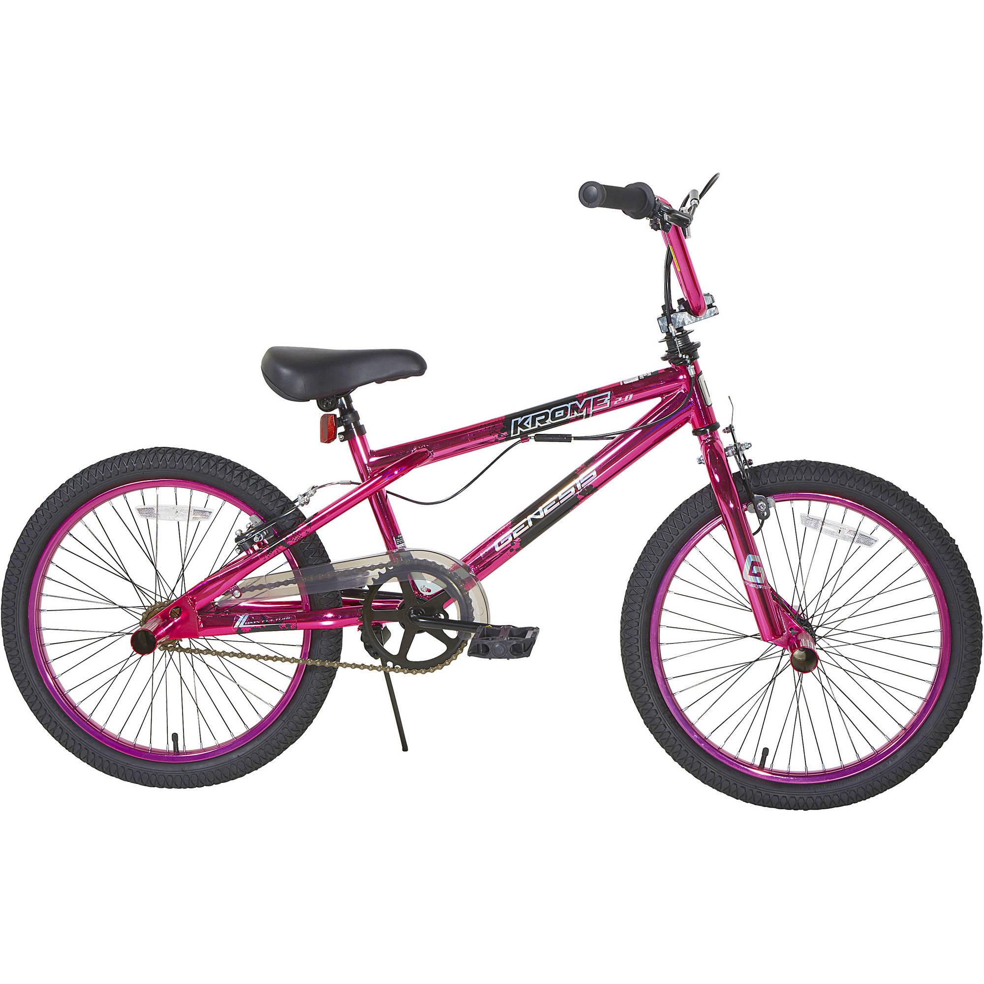 "Genesis 20"" Girls' Krome 2.0 Freestyle Bike-pink"