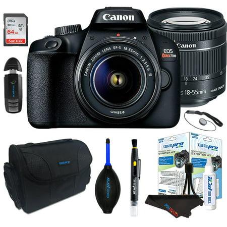 "Canon EOS Rebel T100/4000D Digital SLR Camera with 18-55mm Lens Kit+ Pixi ""STARTER"" Bundle"