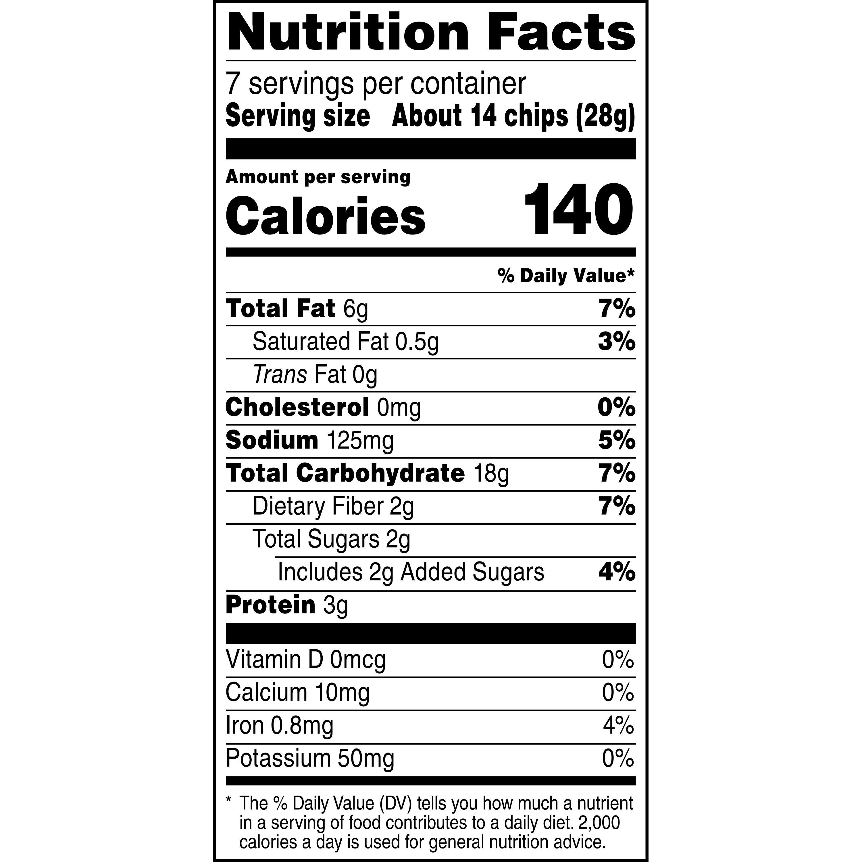 Subway Sun Chips Nutrition Facts Nutrition Ftempo