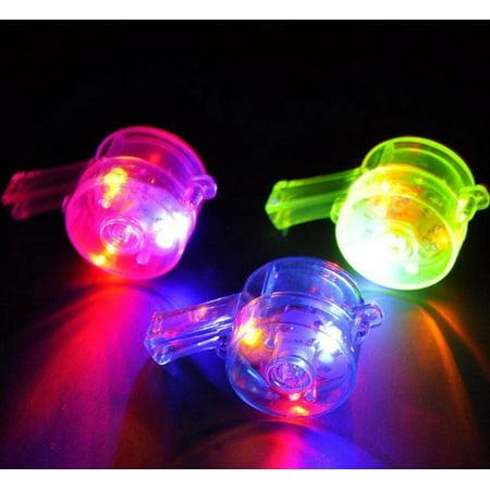 Led Lanyards (8 PCS Light Up Whistles LED Flashing Blinking Favors Rave Lanyard)