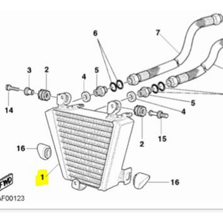 Ducati OEM Replacement Oil Cooler 749 999 03-07 5484021A
