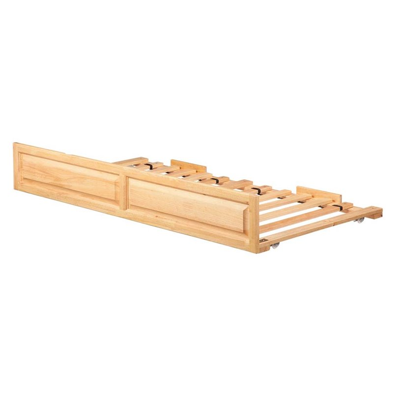 Atlantic Furniture Twin Raised Panel Trundle Bed in Natur...