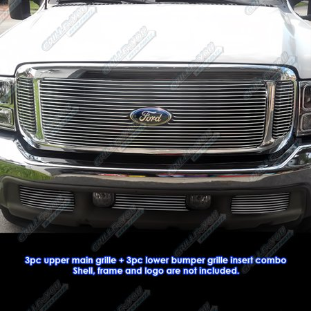 - Fits 99-04 Ford F250/F350 Super Duty Billet Grille Combo #F67871A