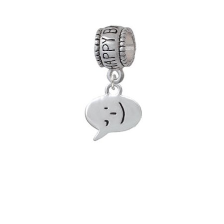 Emoticon :- ) - Winking - Happy Birthday Charm Bead