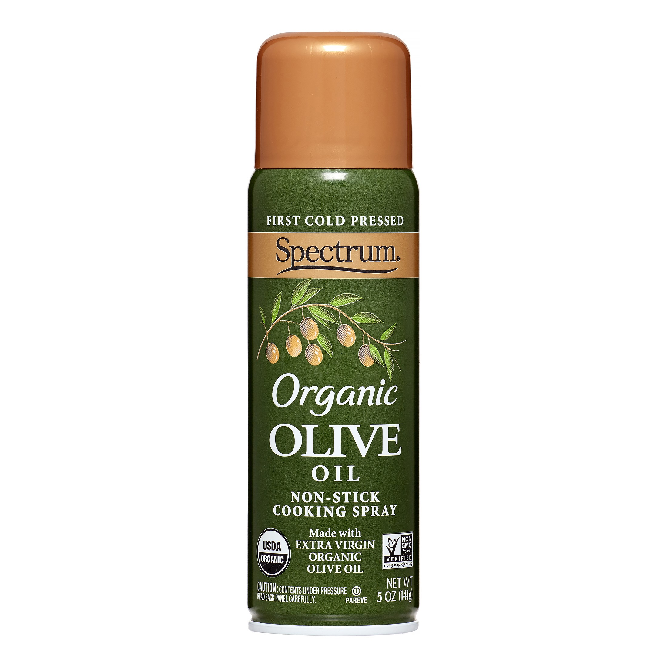 Spectrum Organic First Cold Pressed Olive Oil Cooking Spray, 5 Fl Oz